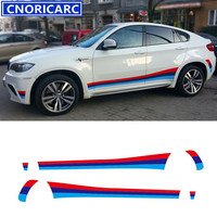 CNORICARC Sport Styling Car Side Skirts Decal Waist Line Stickers For BMW X6 X4 Tricolor Both Sides Vinyl Decals Stickers
