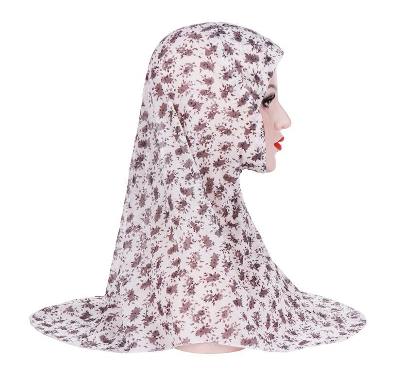 Image 5 - One Piece Amira Women Muslim Hijab Niquabs Scarf Islamic Headwear  Shawls Headwraps Hat Full Cover Headscarf Prinrt Middle EastIslamic  Clothing