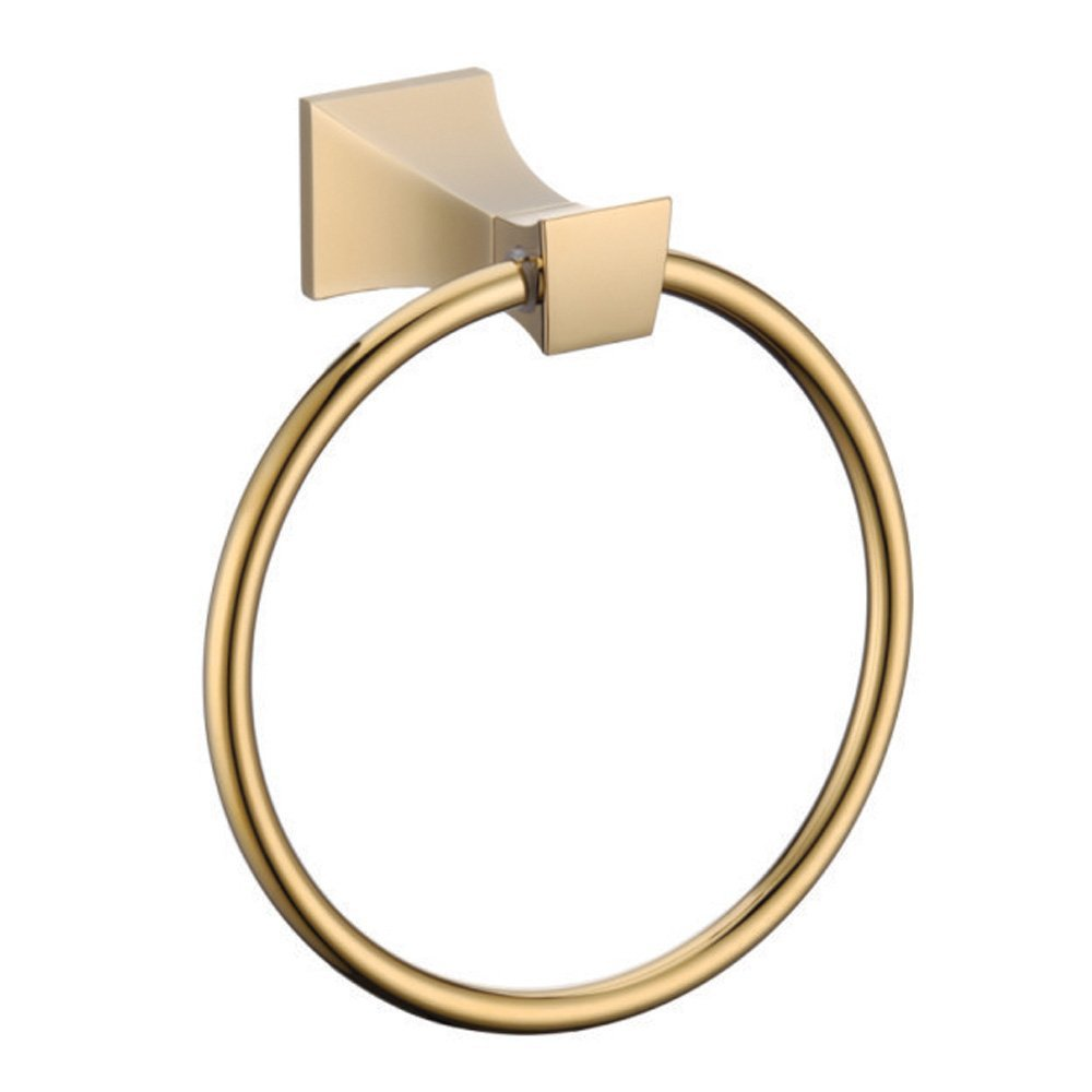ФОТО Bathroom Lavatory Towel Ring ,Titanium Gold Towel Ring,Towel Holder, Towel Bar Bathroom Accessories