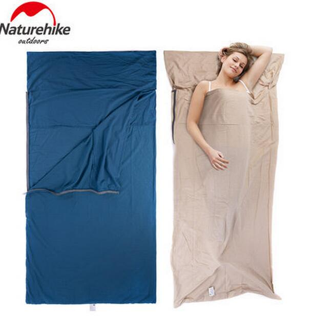 Naturehike Travel Envelope Cotton Sleeping Bag Sack Liner Inner Camping Sheet Ultra-light Portable Widened Cotton Sleeping bag ручка шариковая тайна имени владимир