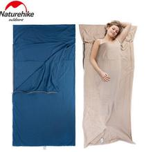 Naturehike Travel Envelope Cotton Sleeping Bag Sack Liner Inner Camping Sheet Ultra-light Portable Widened Cotton Sleeping bag ultra light portable double sleeping bag liner 100% cotton healthy outdoor camping travel 220 160cm 2 color naturehike