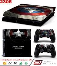 Pour Captain America Avant et Arrière de Décalque de Vinyle Pour PS4 Autocollants De Peau Pour Sony PlayStation 4 Console Et 2 Contrôleurs