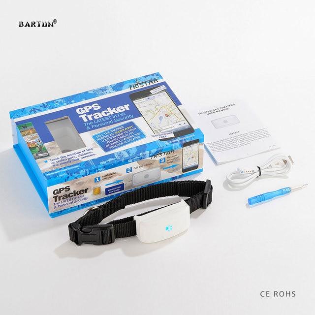 Bartun Realtime GPS Tracker Waterproof Dog Tracking Device Pets Tracker Collar Cat GPS Locator Kids Children GPS Tracking System