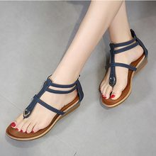 Women sandals 2019 new wedge comfortable women shoes clip to