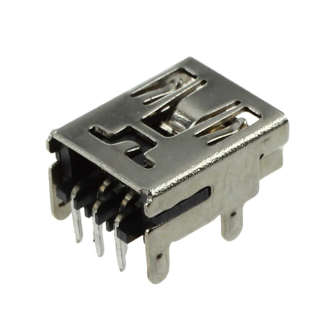 10 sztuk Mini USB 5 pinowe gniazdo żeńskie złącze smt diy srebrny Tone ciemny szary