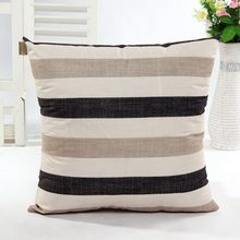 Wholesale Supply Simple Striped Home Body Pillowcases, Simple Style Design A Variety Of Striped Square Plush Cover Cushion(China)