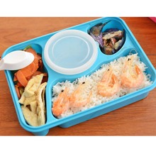 Bento Box Food Grade Material Microwave Heating Mess Tin Three Grids With a Soup Bowl Sealed  sc 1 st  AliExpress.com & Buy tin dinner plates and get free shipping on AliExpress.com
