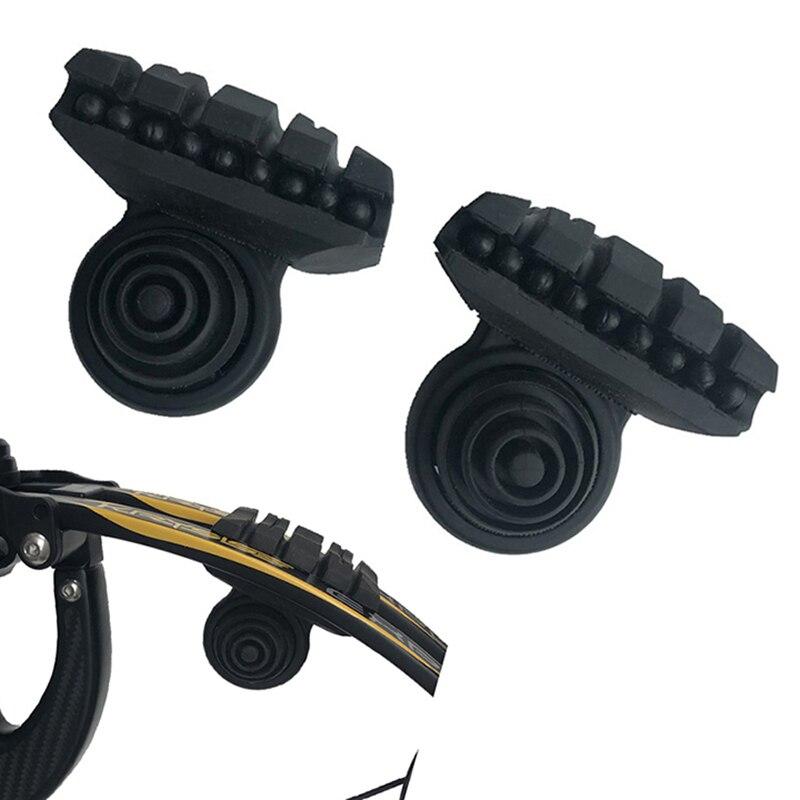 1 paire composé arc stabilisateur caoutchouc arc absorbant double nœud membres coussin pour tir à l'arc chasse tir à l'arc