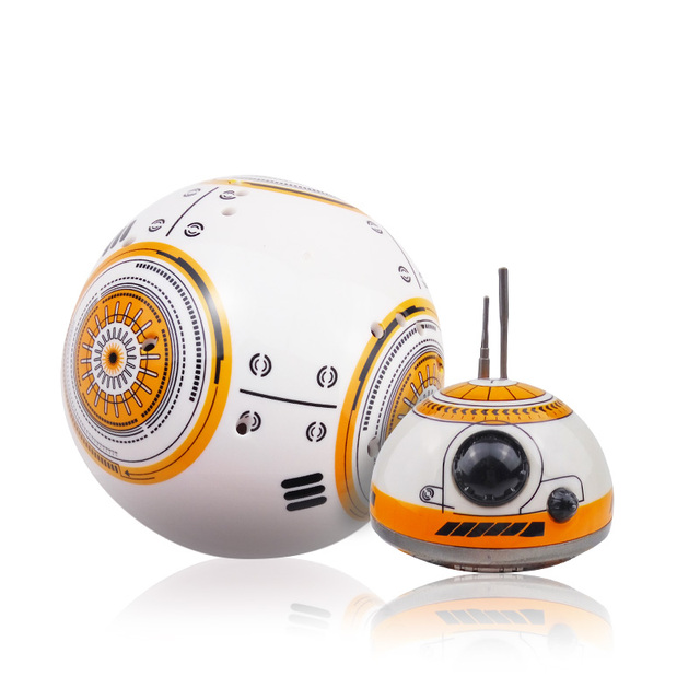 Fast delivery Upgrade Model Star Wars RC BB-8 Droid Robot BB8 Ball Intelligent Robot Kid Toy Gift With Sound 2.4G Remote Control 3
