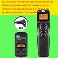 Pixel tw283 tw-283 n3 sem fio timer controle remoto para canon 7d 5d Mark ii 1D 7D2 6D 5D3 50D 40D 30D 10D Obturador Da Câmera liberação