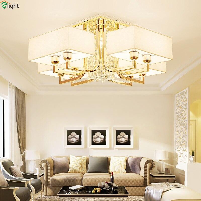 Moderne Lustre En Cristal Led Lustres Éclairage Or Métal Salon Led Plafond Lumières Lustre Chambre Lustre Appareils