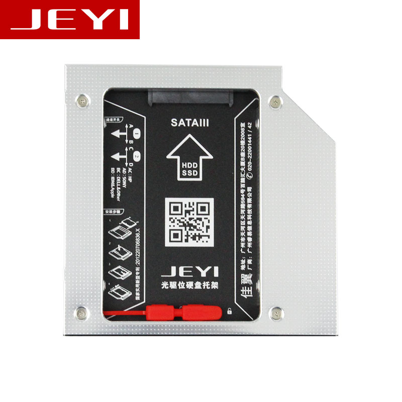 JEYI S27 Universal 2.5' 2nd 12.7mm SSD HDD SATA ODD Drive Caddy Adapter Bay For 12.7mm Height CD DVD ROM Optical UltraBay
