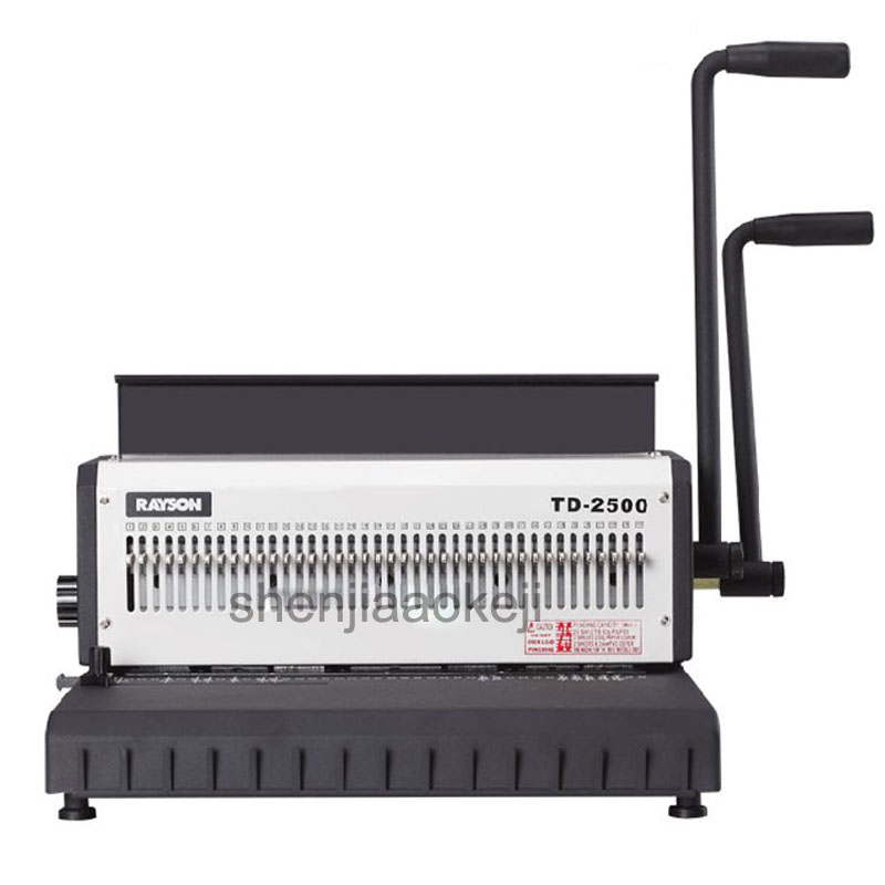 A4 Manually Double Handle Wire Binding Machine Iron Ring