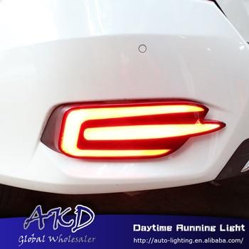 Car Styling for Honda Civic 10G rear reflector for New Civic C style rear bumper light DRL brake lamp +Rear Bumpe Reflector