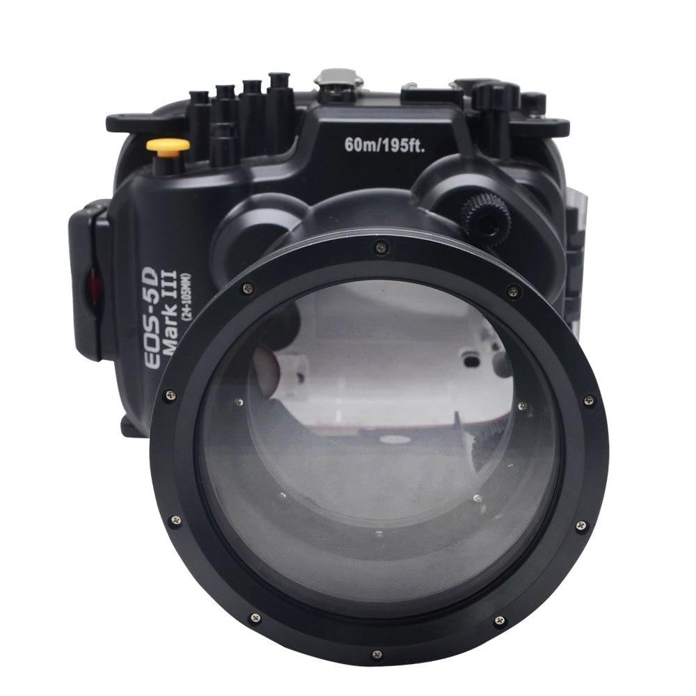Mcoplus 60m / 190ft Waterproof Underwater Camera Housing Diving Case Bag for Canon Camera 5D Mark III 5D3 meikon pro 60m 195ft underwater diving waterproof case housing for canon eos 5d iii 5d mark iii