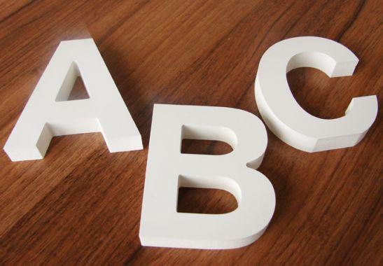 8 cm Deco Letters 3D letter8 cm high Decoration Letters to create