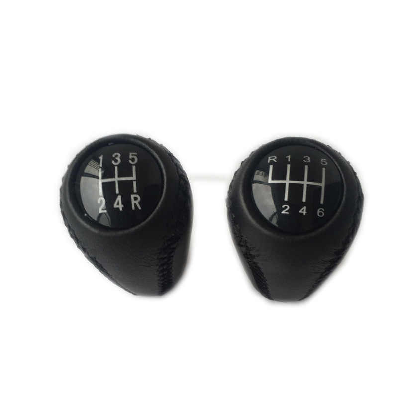 Leather Gear Stick Shift Knob Cover Compatible with Mazda 3 BK BL//5 CR CW//6 II GH 05-14 Gear Shift Knob