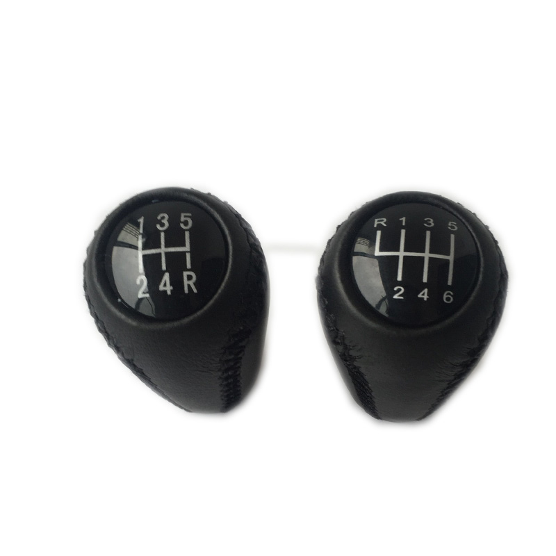 Hospitable 5/6 Speed Leather Gear Knob Stick Shift For Mazda 3 Bk Bl 5 Cr Cw 6 Ii Gh Cx-7 Er Mx-5 Nc Iii 2005 2006 2007 2008 2009 2010 2011