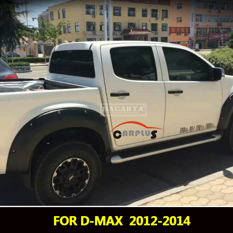 2012 2014 Fender Flares For Isuzu D max Accessories Mudguards For Isuzu dmax 2012 2013 2014 fender Parts car styling