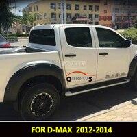 2012 2014 Fender Flares For Isuzu D max Accessories Mudguards For Isuzu dmax 2012 2013 2014 fender Parts car styling