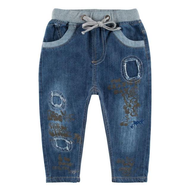 2017 Newest Spring Autumn Boys Jeans Boy Pants Children Cowboy Trousers Kids Jeans Pocket Child Denim Boy Pants