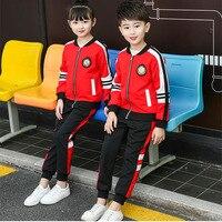 Kindergarten garden clothing autumn suit red primary and secondary school uniforms children's sportswear spring and autumn