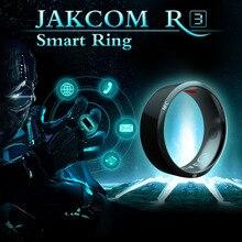 Jakcom R3 Inteligente Anel Dispositivo Wearable Eletrônica Inteligente Para Samsung HTC Sony LG Android Windows Mobile telefone NFC preto das mulheres anel