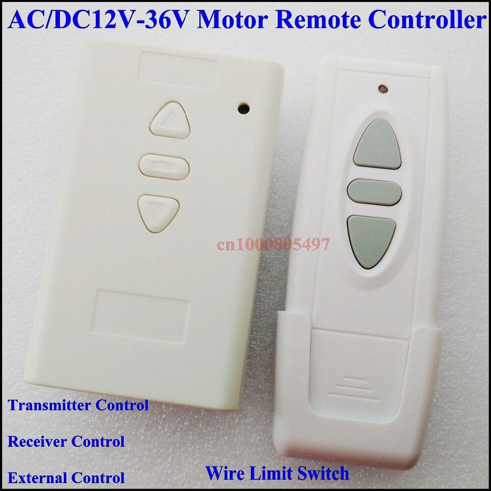 AC / DC 12V 24V 36V Motor Remote Controller Motor Manual & Wireless ...