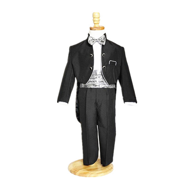 BBWOWLIN Black White Newborn Baby Boys Formal Attire Clothes Birthday Party Wedding for 1-4 Kids Tuxedo Suit  90775