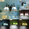 A1 Tiffany wall lamp Mediterranean European American style bathroom bathroom mirror lamp wall lights double aisle Garden