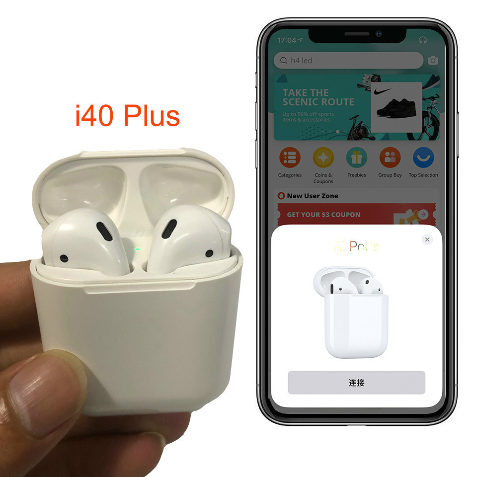 Aspiring I40 Plus Tws 1:1 Earphones Pop-up Animation Bluetooth 5.0 Wireless Bluetooth Earbuds Pk W1 H1 Chip I10 I20 I30 I14 I60 Lk-te9 Earphones & Headphones Back To Search Resultsconsumer Electronics