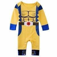 Baby Boys Wolverine Costume Romper Outfit Long Sleeve Onesie