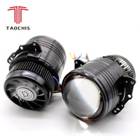 TAOCHIS 3.0 inch car Bi LED Projector headlights retrofit Bi led Lens H4 with high beam and low beam fast bright LHD