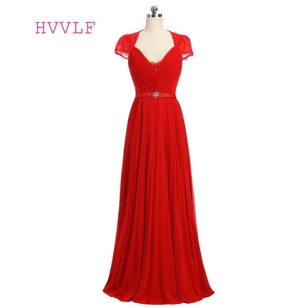 2019 robes de célébrité formelle a-ligne col en v Cap manches longueur de plancher en mousseline de soie dentelle perlée célèbre robes de tapis rouge