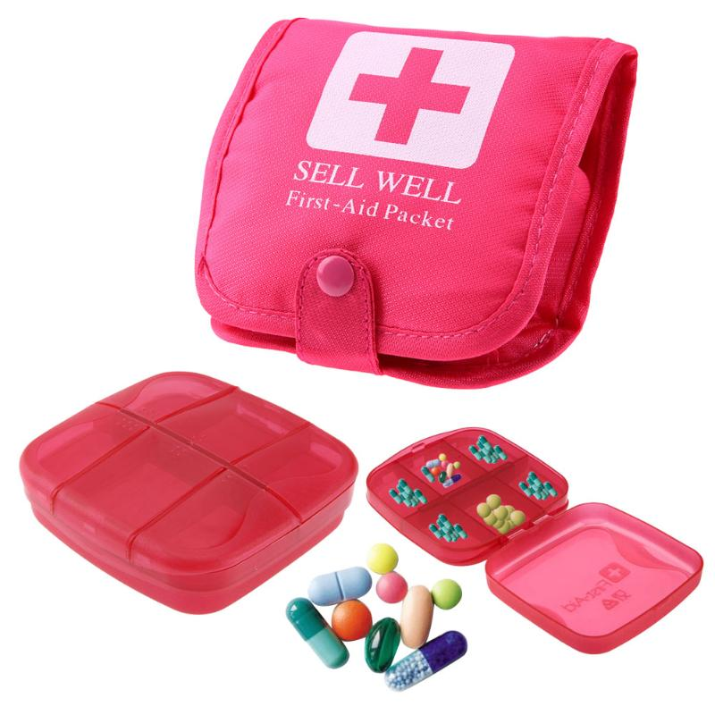 Mini Drug Box Is Packed With Small Medicine Box One Week Travel Tablets And Drug 6.5x6.5cm Medicine Box Organizer Box #82015 Storage Boxes & Bins