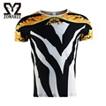 Mens Funny 3D Printed Shirt Short Sleeve Crew Neck Brand T-shirt Fitness Casual Tee Male Striped Compression Tops S-4XL