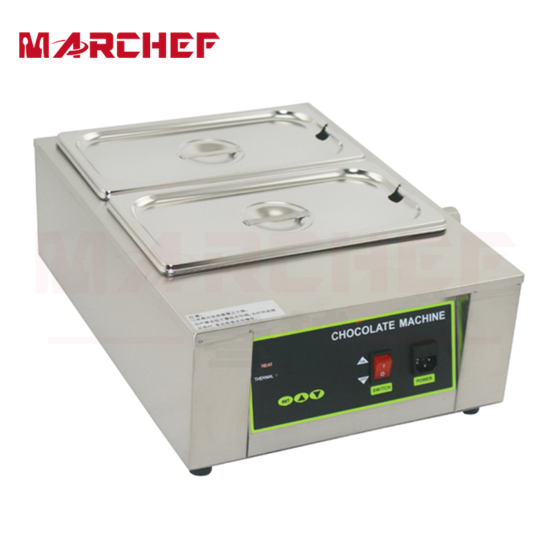 Commercial 2 Tanks Chocolate Melting Pot Electric Hot Chocolate Melter with CE 1pcs 1000w 8kg capacity electric chocolate melter chocolate tempering machine