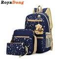 Royadong 2017 mujeres mochila con oso mochilas escolares para adolescentes niñas mochilas diarias estrella impresión bookbag lindo back pack
