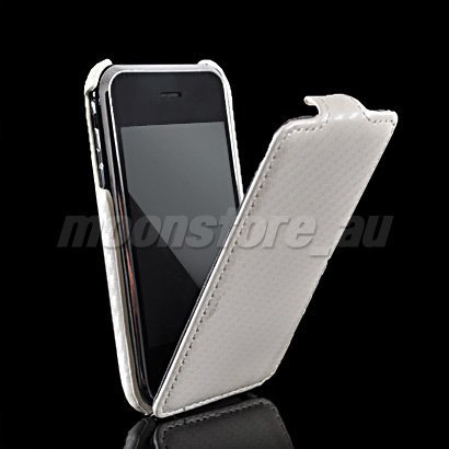 CARBON FIBRE FLIP HARD BACK CASE COVER FOR APPLE IPHONE 3G 3GS FREE SHIPPING