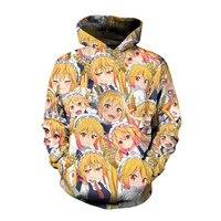 99ed3fa2df349 SOSHIRL Dragon Girl Anime Hoodie Cool Hip-hop Streetwear Magic Fairy  Pullover Women men s