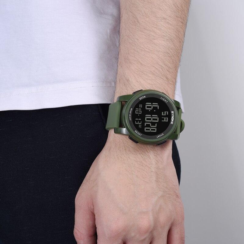 Herrenuhren Synoke Digital Sport Armbanduhr Reloj Led Hombre Wasserdichte Digital Mode Militär Sport Männer Uhren Männlichen Uhr Mit Den Modernsten GeräTen Und Techniken