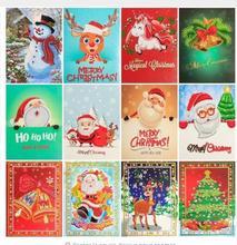 Diamond painting Christmas cartoon greeting card diamond embroidery paper birthday crafts 5D diy kids