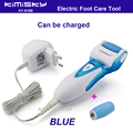 Blue charged waterproof pedicure electric tools Foot Care Exfoliating Foot Care Tool 2pcs roller pedicure heads scholls KIMISKY