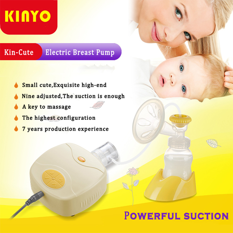 New 2018 KINYO in Style Advanced Powerful Suction single-Core single Side Breast Pump compete my bottle Electric Breast Pumps