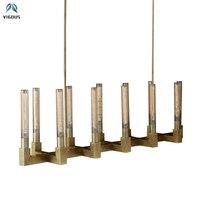 Mỹ RH Vàng Cổ E27 Edison Bóng Đèn LED Đèn Chùm Luminaria Lustre Kính Bóng Mặt Dây Chuyền Đèn Chùm Chiếu Sáng Trong Nhà Lamparas