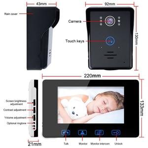 Image 2 - Saful Wired אינטרקום וידאו 7 עמיד למים מערכת נעילה אלקטרוני 220 v פעמון צג ראיית לילה בית דירה דלת טלפון