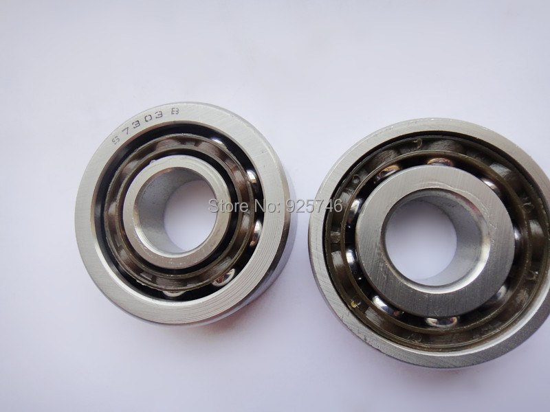 Free shipping 4pcs  Sainless Steel  Single-Row Angular Contact Ball Bearing S7303 B  size:17*47*14mm stainless steel angular contact ball bearing 7208 s7208 40x80x18
