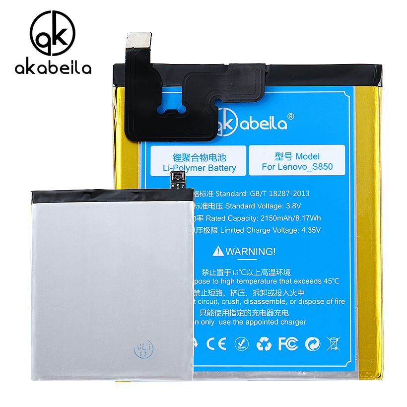 AKABEILA Mobile Phone Battery For Lenovo S850 S850T BL220 BL 220 Replacement Li-on BL220 BL 220 Batteries S850 S850T 2150mAh