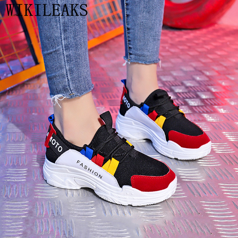 цена Luxury Brand Women's Vulcanize Shoes Platform Sneakers Wedge Shoes For Woman Tenis Feminino Casual Shoes Women Zapatos De Mujer