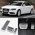 Brand New 3pcs Aluminium Non Slip Foot Rest Fuel Gas Brake Pedal Cover For Audi A4L AT 2009-2017